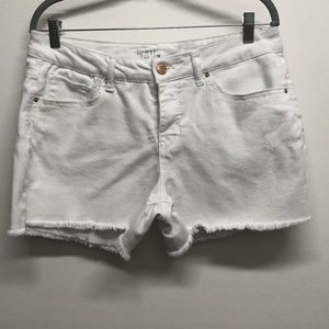 White Jean cut off Shorts